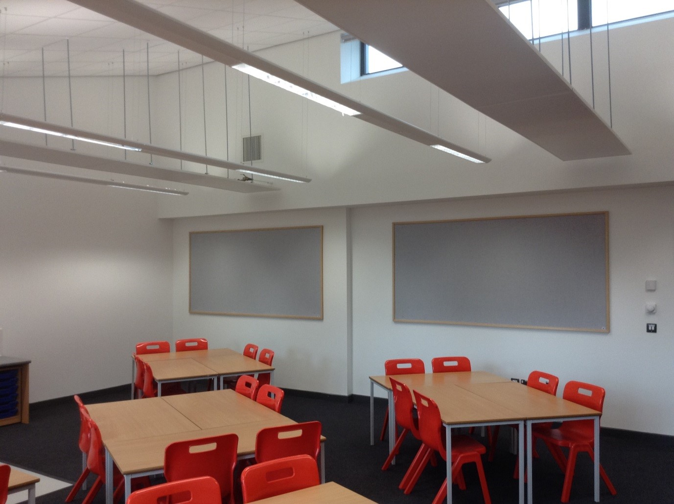 Classroom Lighting Design ~ Rykneld school branston air cool engineering midlands